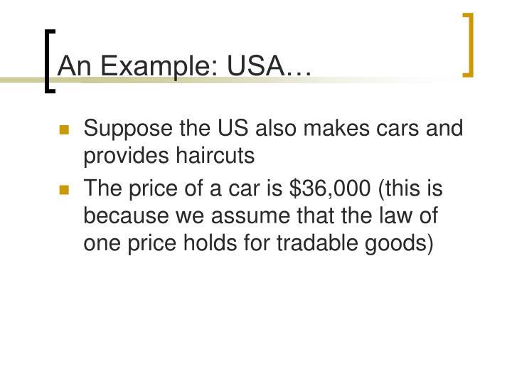 An Example: USA…