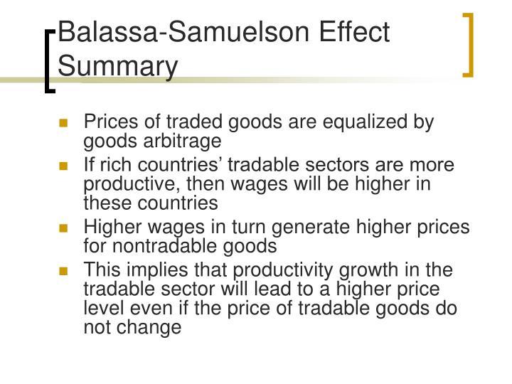 Balassa-Samuelson Effect Summary