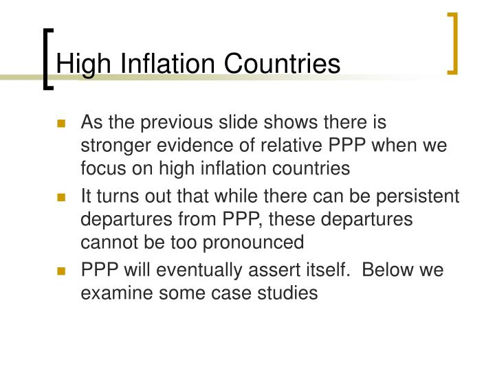High Inflation Countries