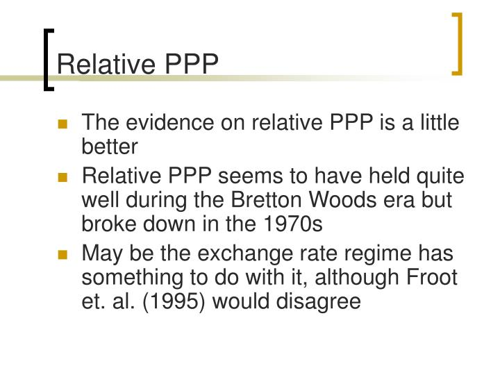 Relative PPP