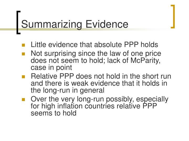 Summarizing Evidence