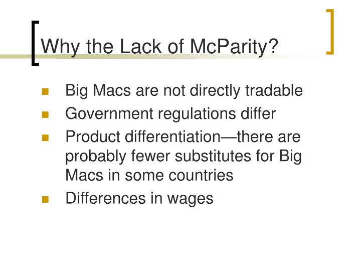 Why the Lack of McParity?