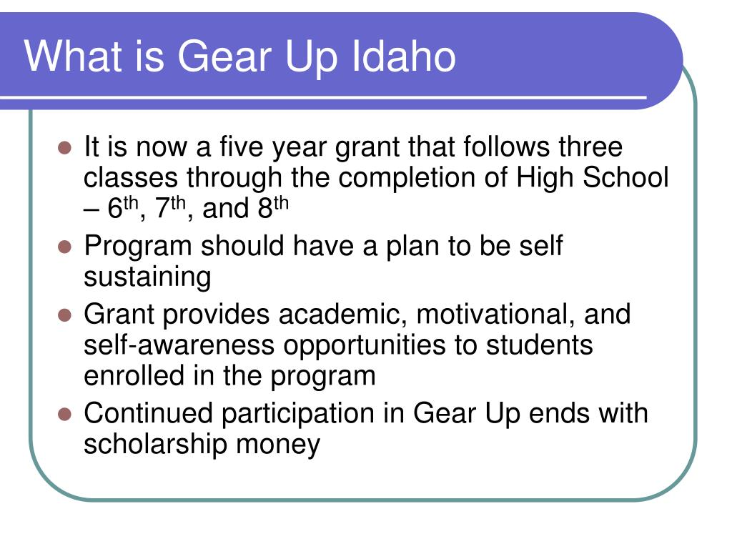 What is Gear Up Idaho