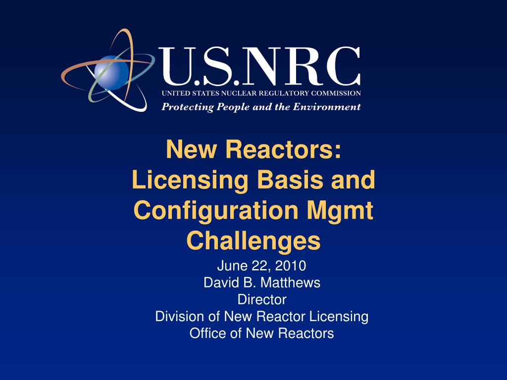 New Reactors: