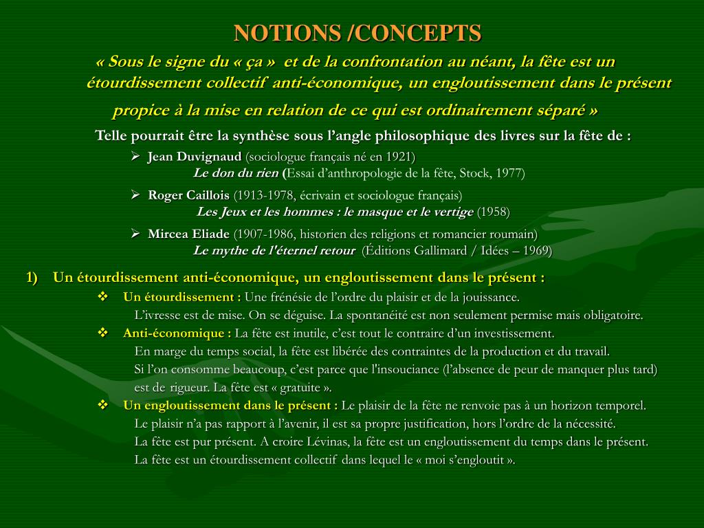 NOTIONS /CONCEPTS