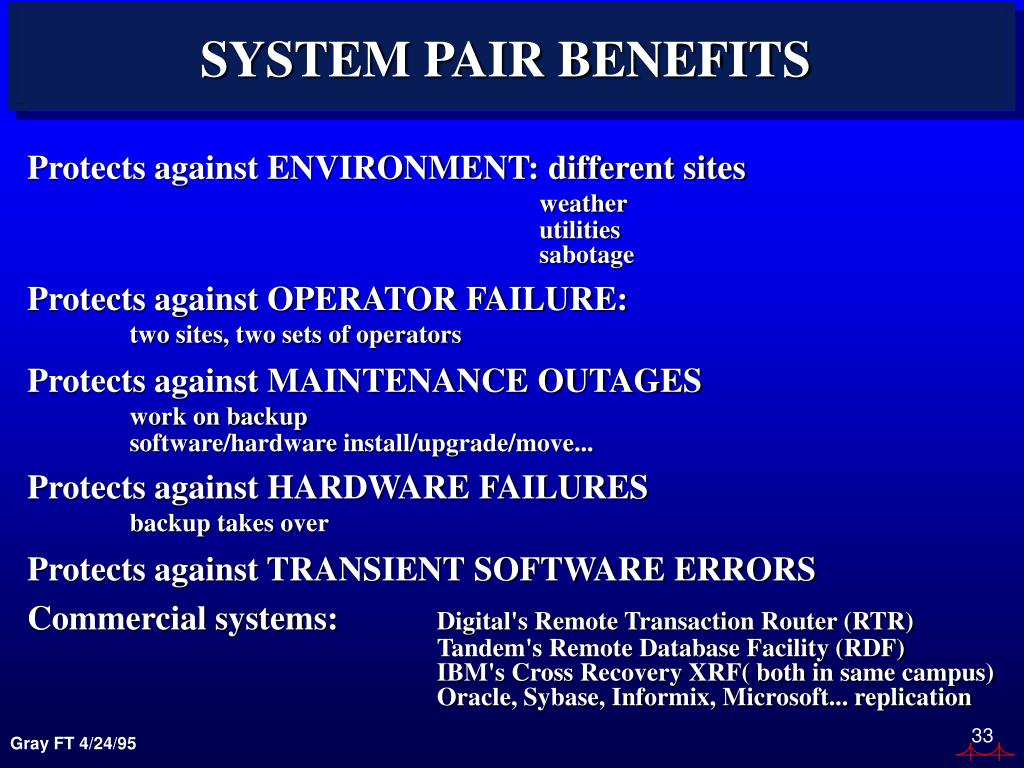 SYSTEM PAIR BENEFITS