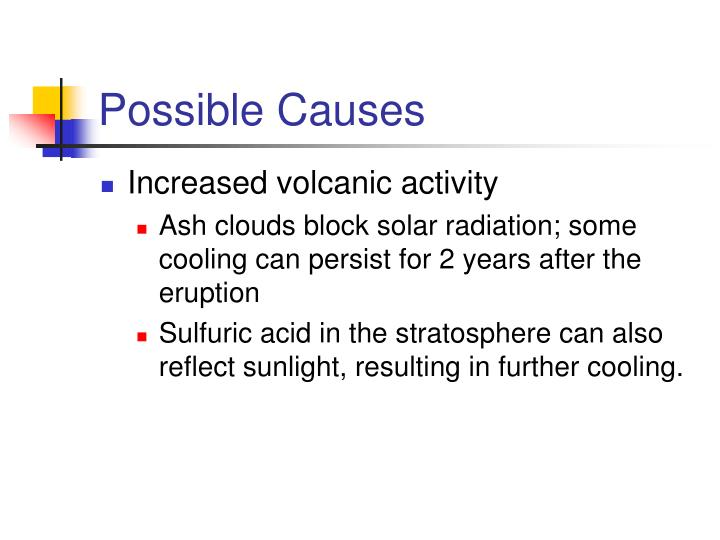Possible Causes