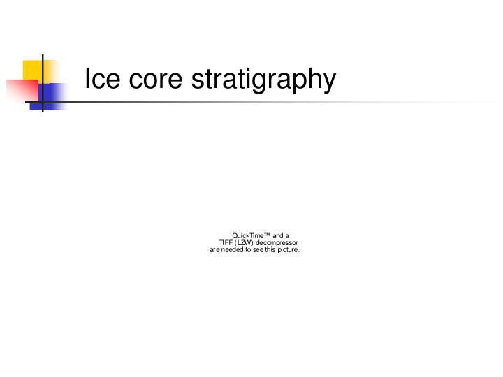 Ice core stratigraphy