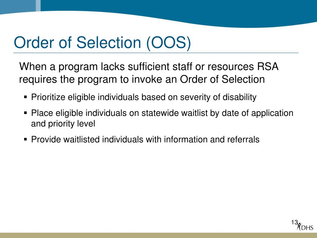 Order of Selection (OOS)