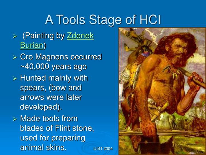 A Tools Stage of HCI