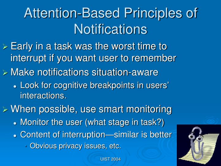 Attention-Based Principles of Notifications