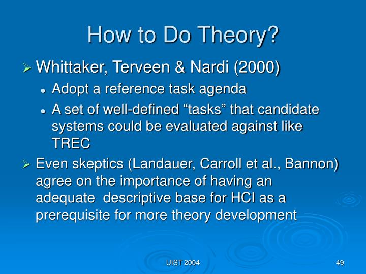 How to Do Theory?