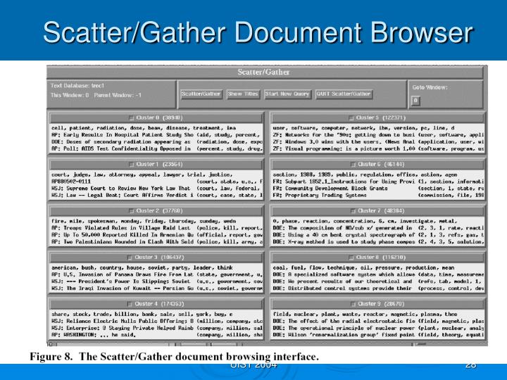 Scatter/Gather Document Browser