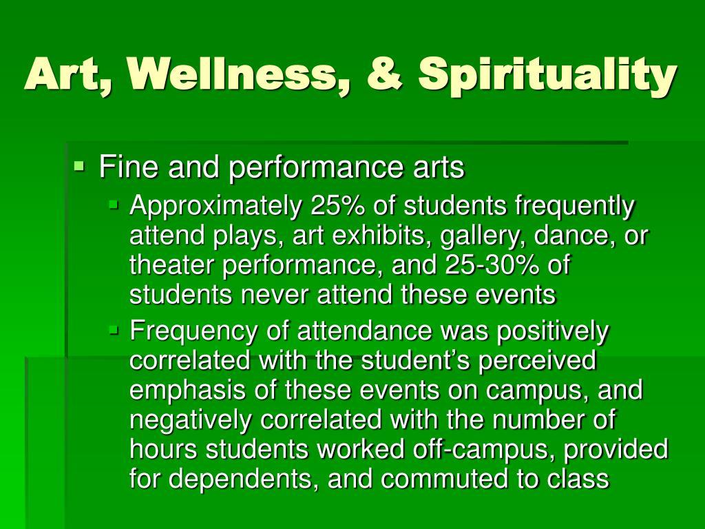 Art, Wellness, & Spirituality