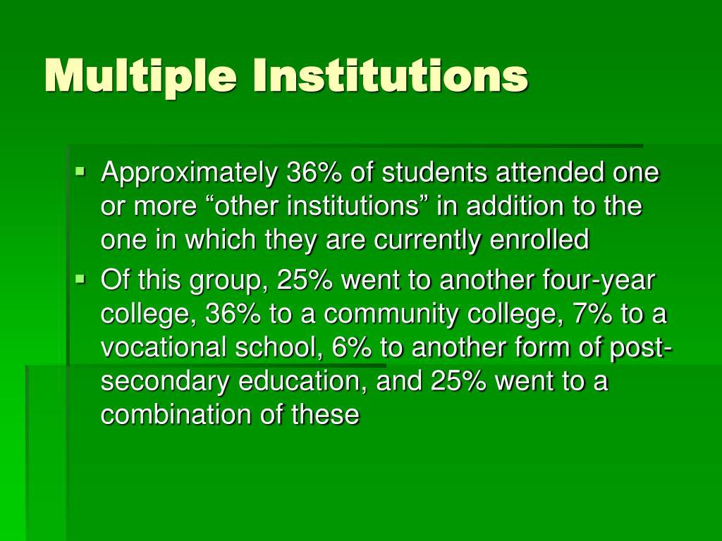 Multiple Institutions