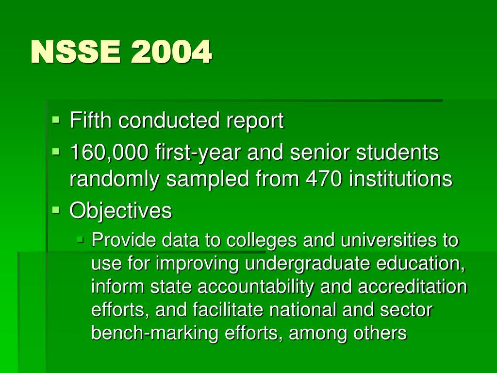 NSSE 2004