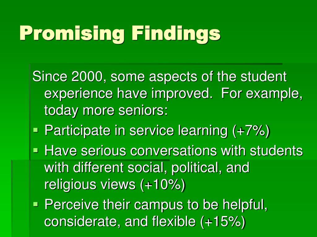 Promising Findings