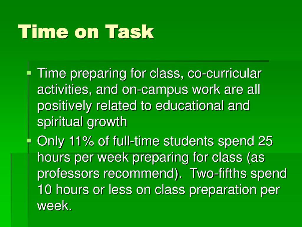 Time on Task