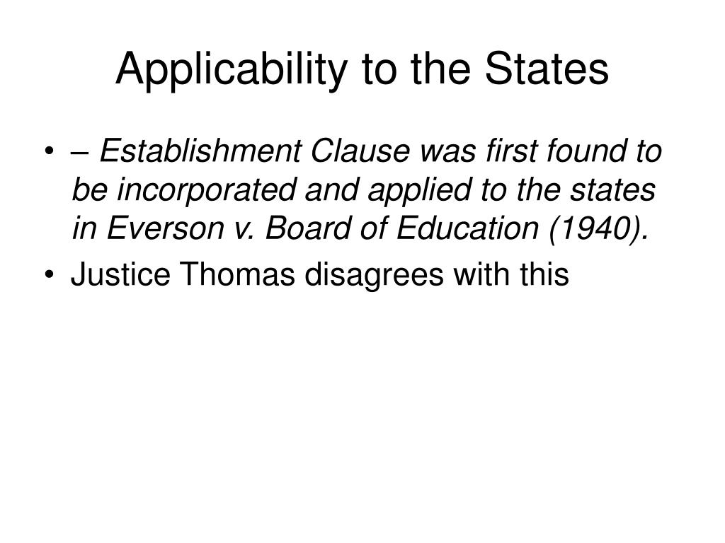 Applicability to the States