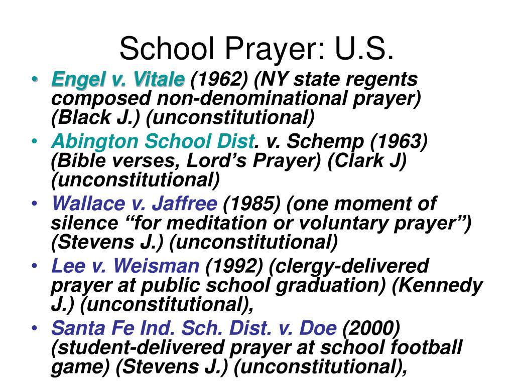 School Prayer: U.S.