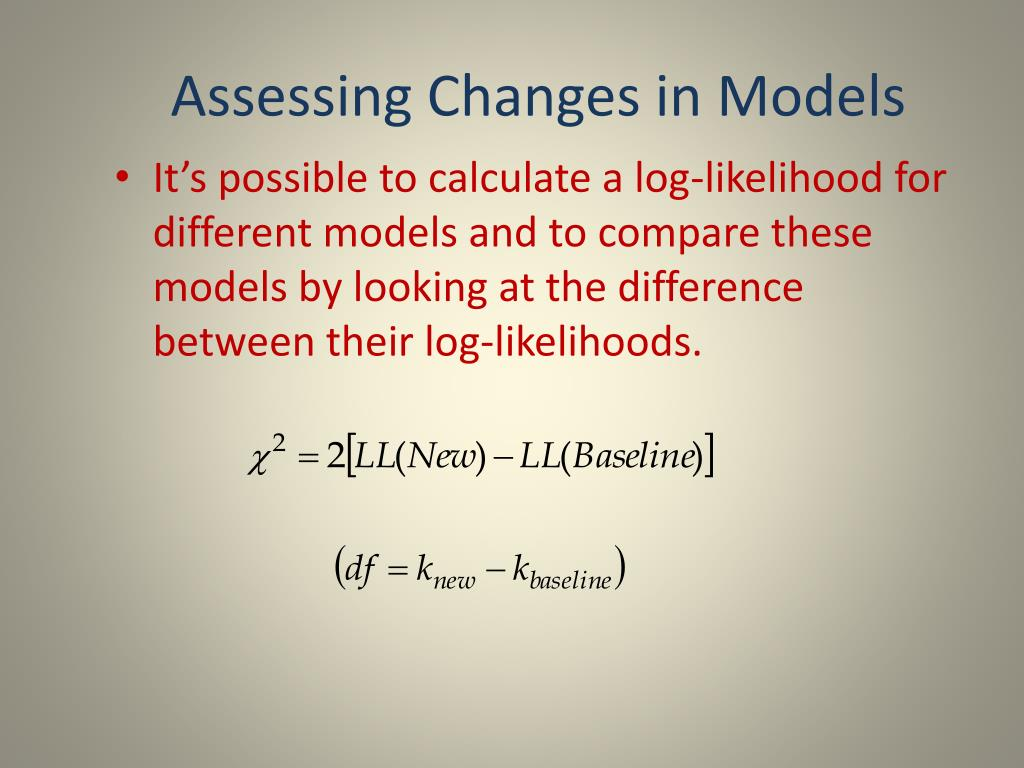 Assessing Changes in Models
