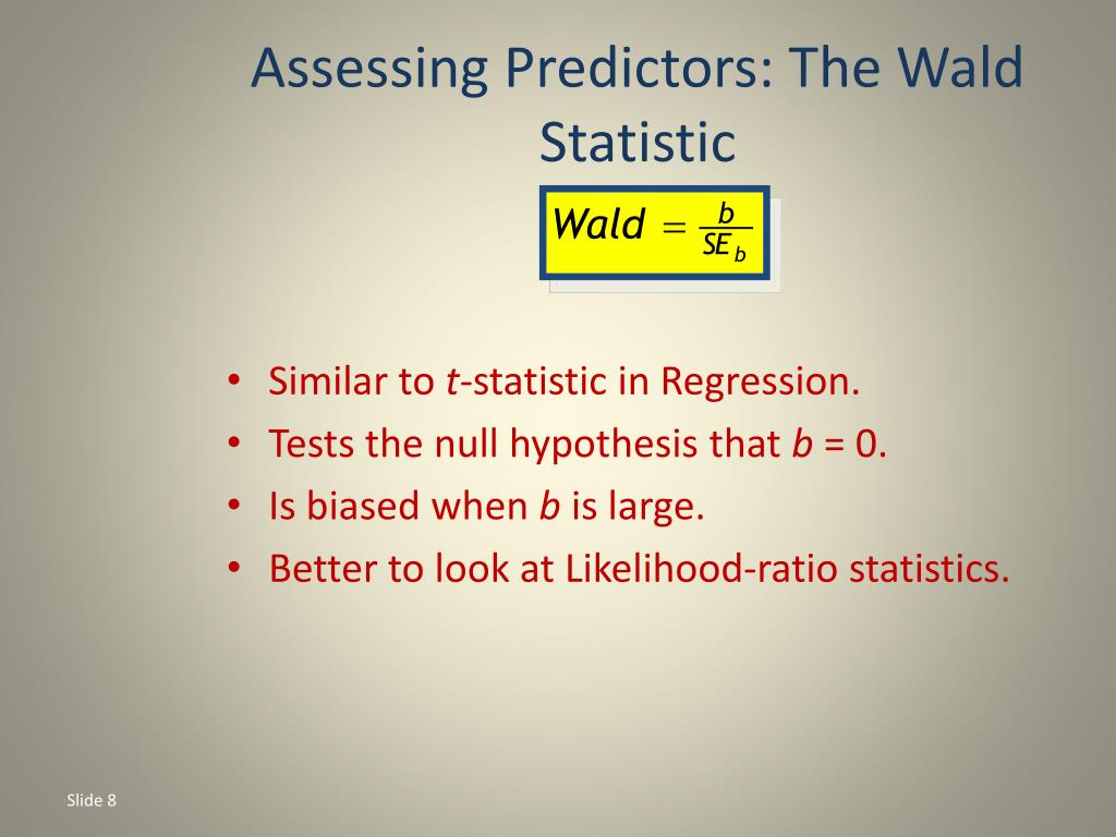 Assessing Predictors: The