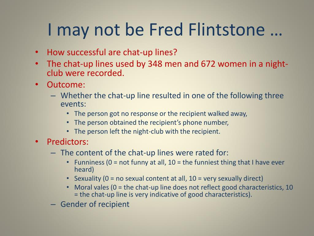 I may not be Fred Flintstone …