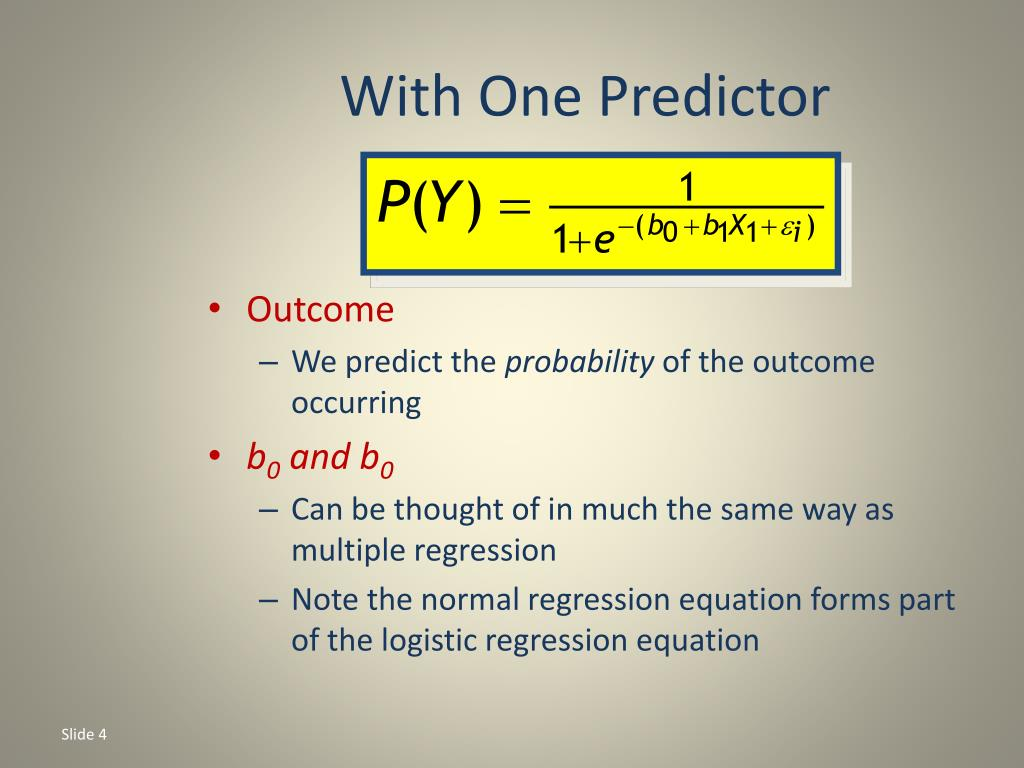With One Predictor