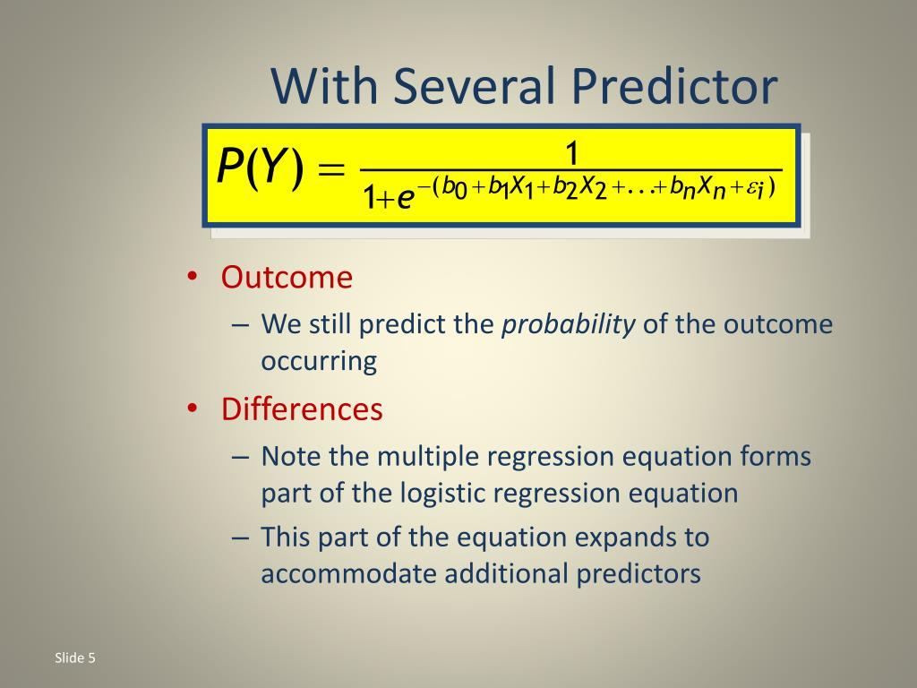 With Several Predictor