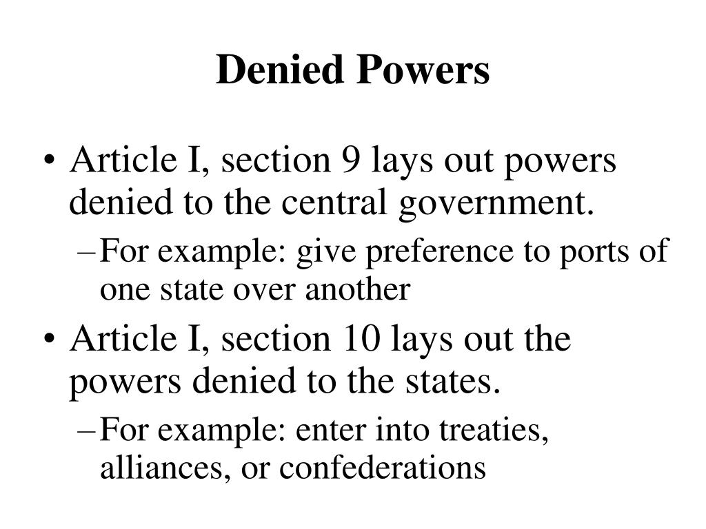 Denied Powers