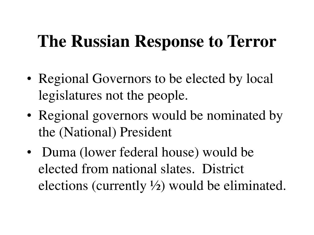 The Russian Response to Terror
