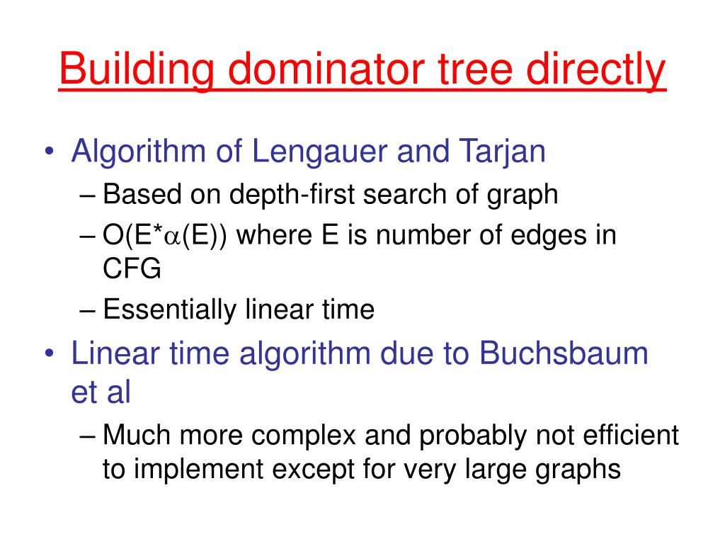 Building dominator tree directly