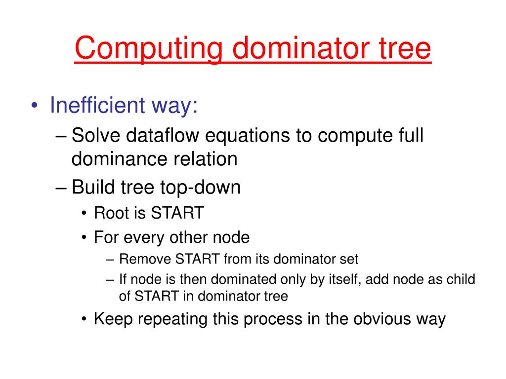 Computing dominator tree