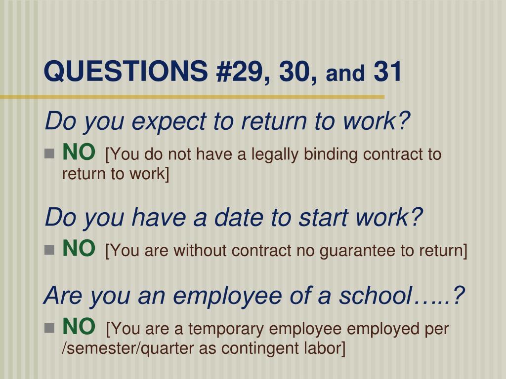 QUESTIONS #29, 30,