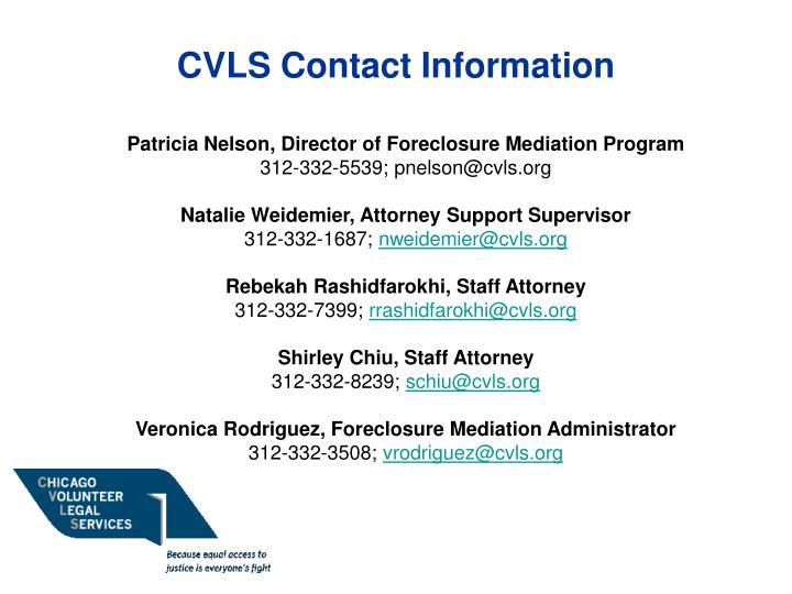 CVLS Contact Information