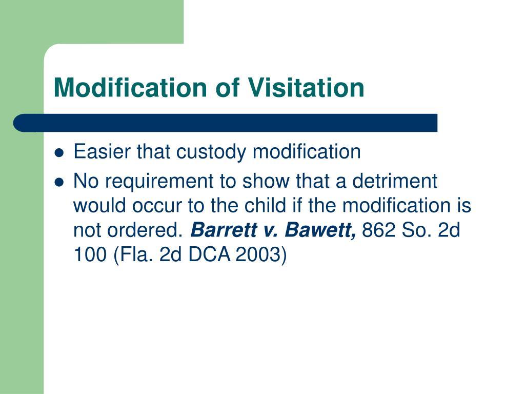 Modification of Visitation