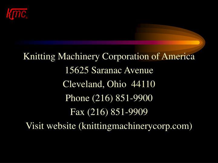 Knitting Machinery Corporation of America