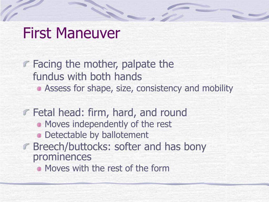 First Maneuver