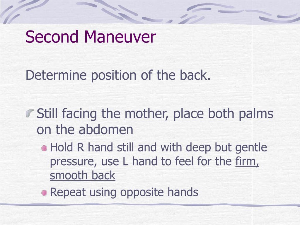 Second Maneuver