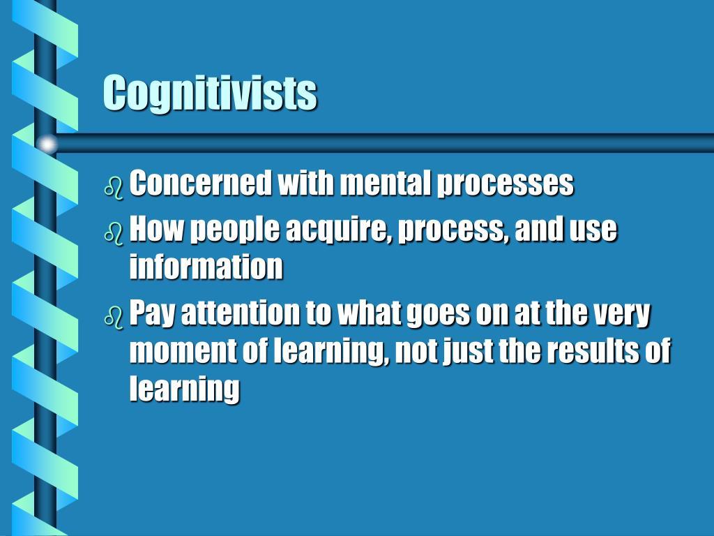 Cognitivists