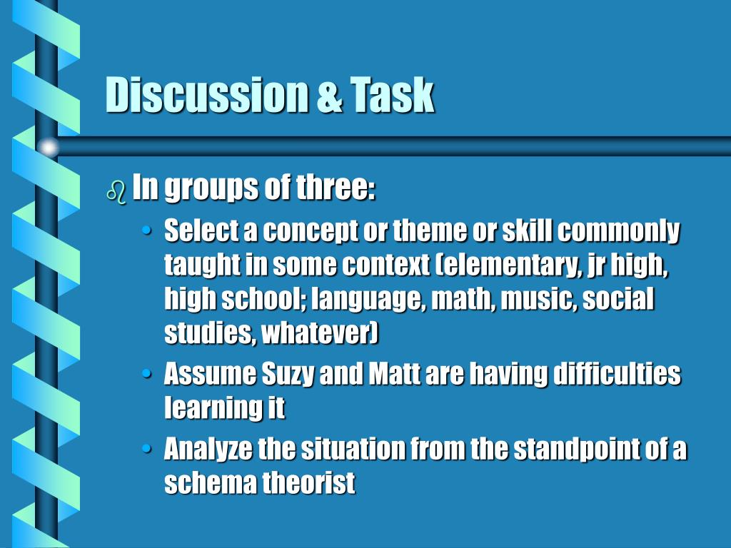 Discussion & Task