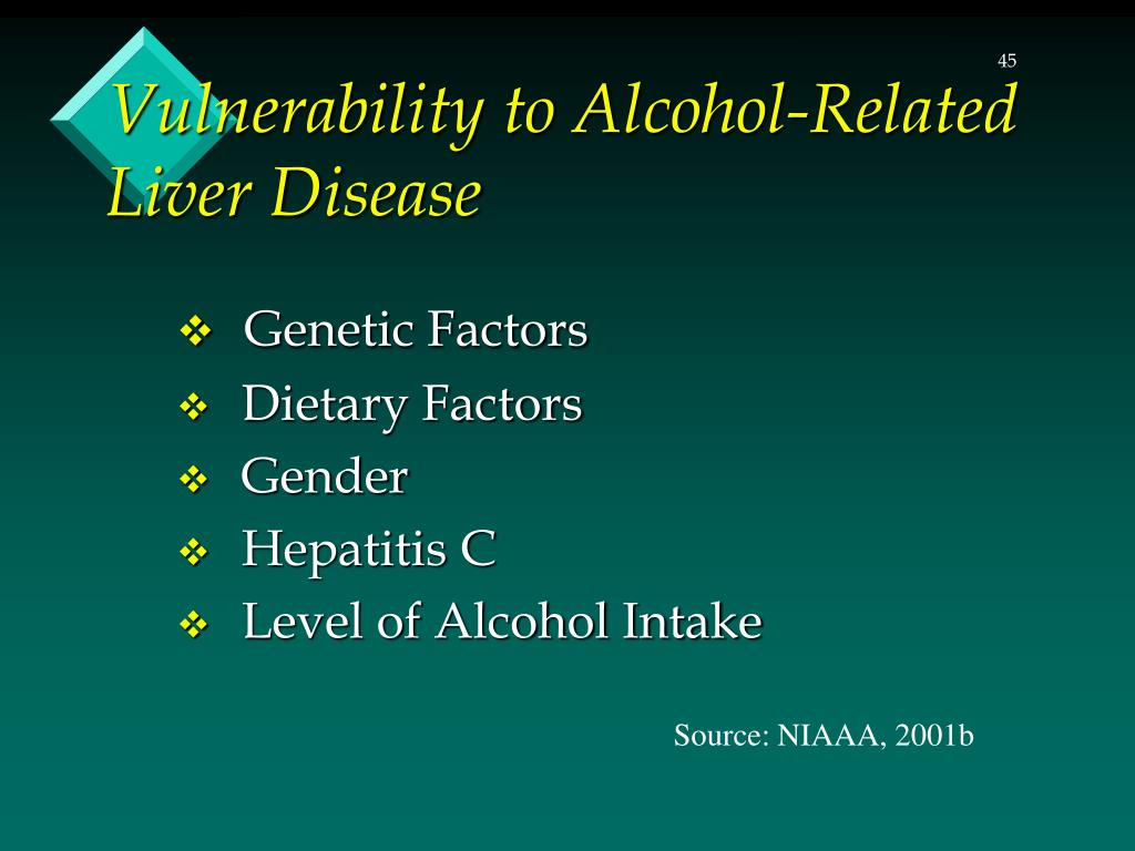 Vulnerability to Alcohol-Related Liver Disease