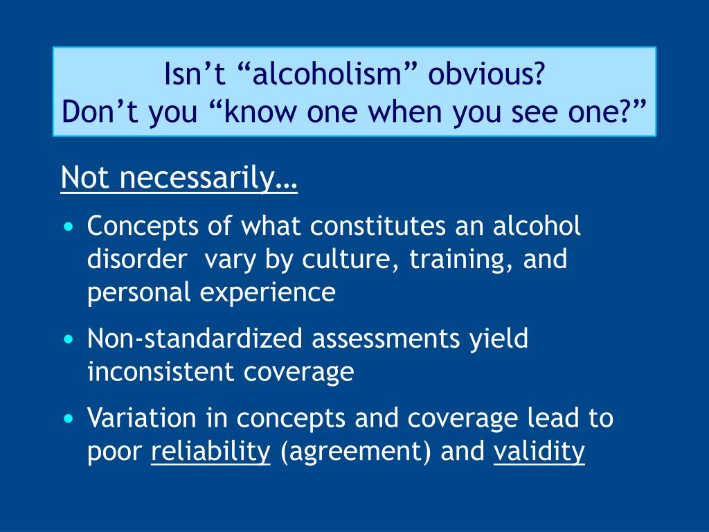 """Isn't """"alcoholism"""" obvious?"""