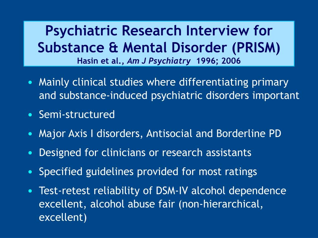 Psychiatric Research Interview for