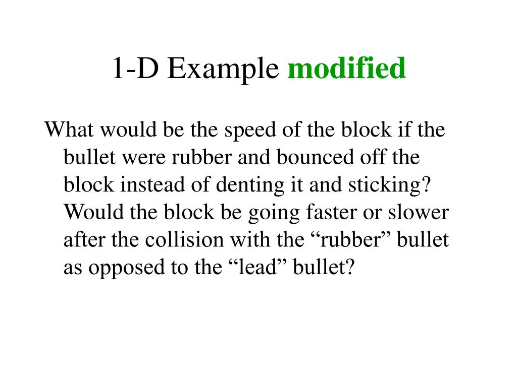 1-D Example