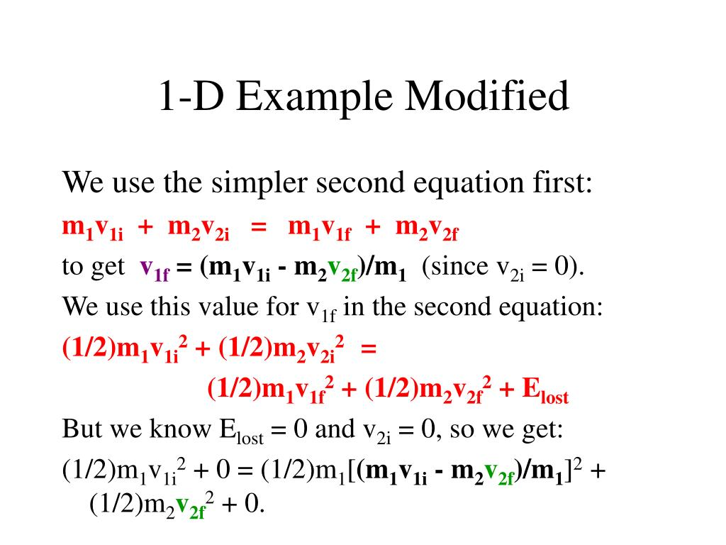 1-D Example Modified