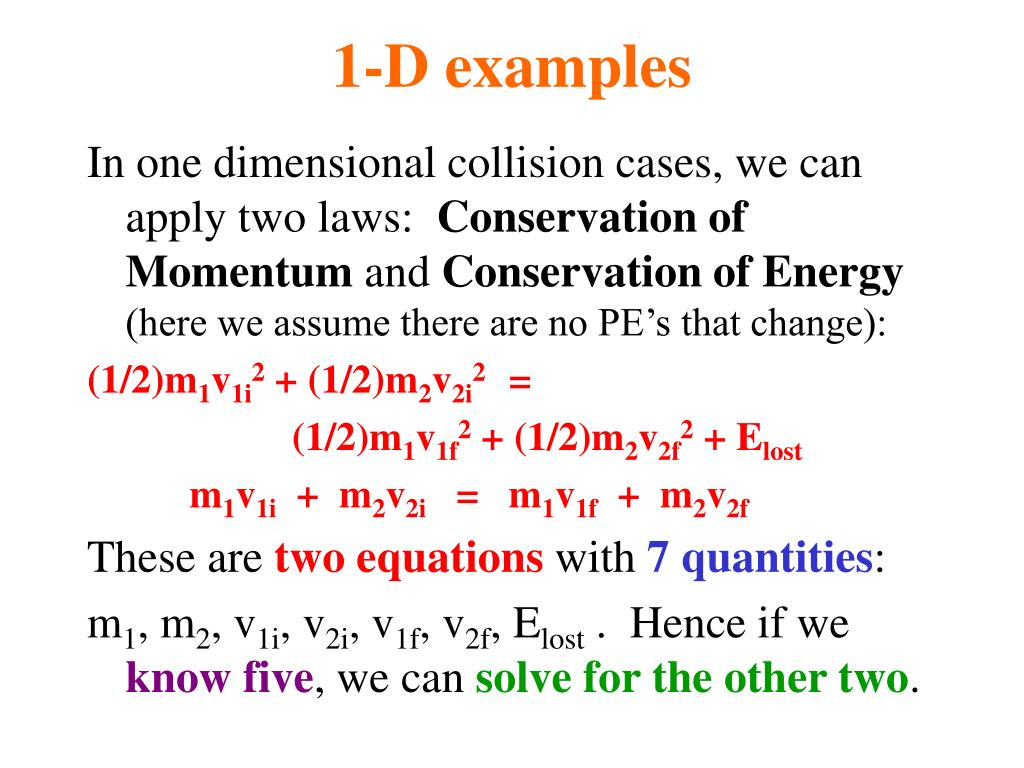 1-D examples