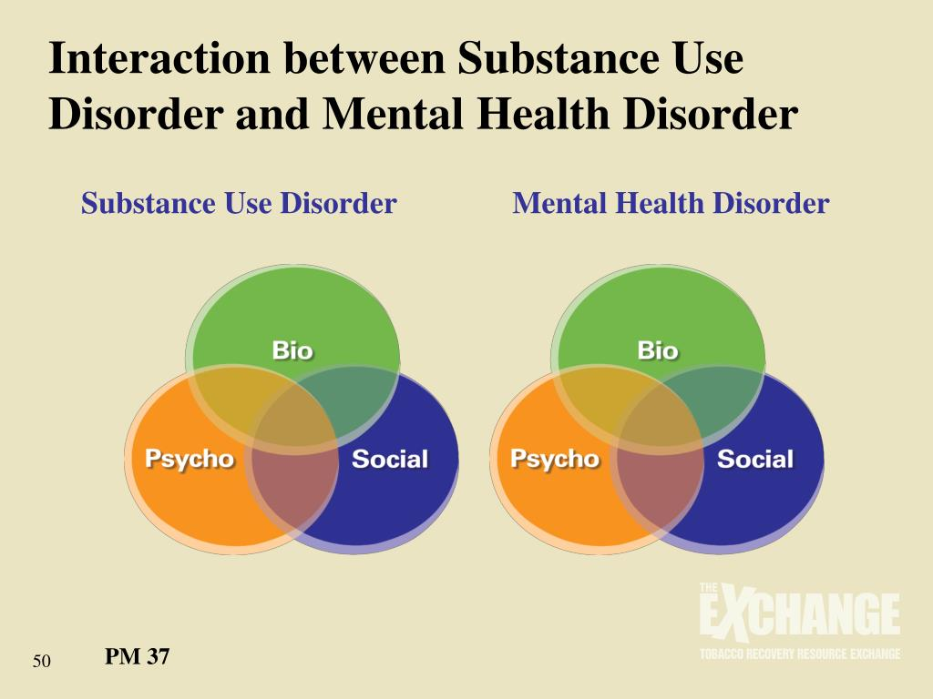 Interaction between Substance Use Disorder and Mental Health Disorder