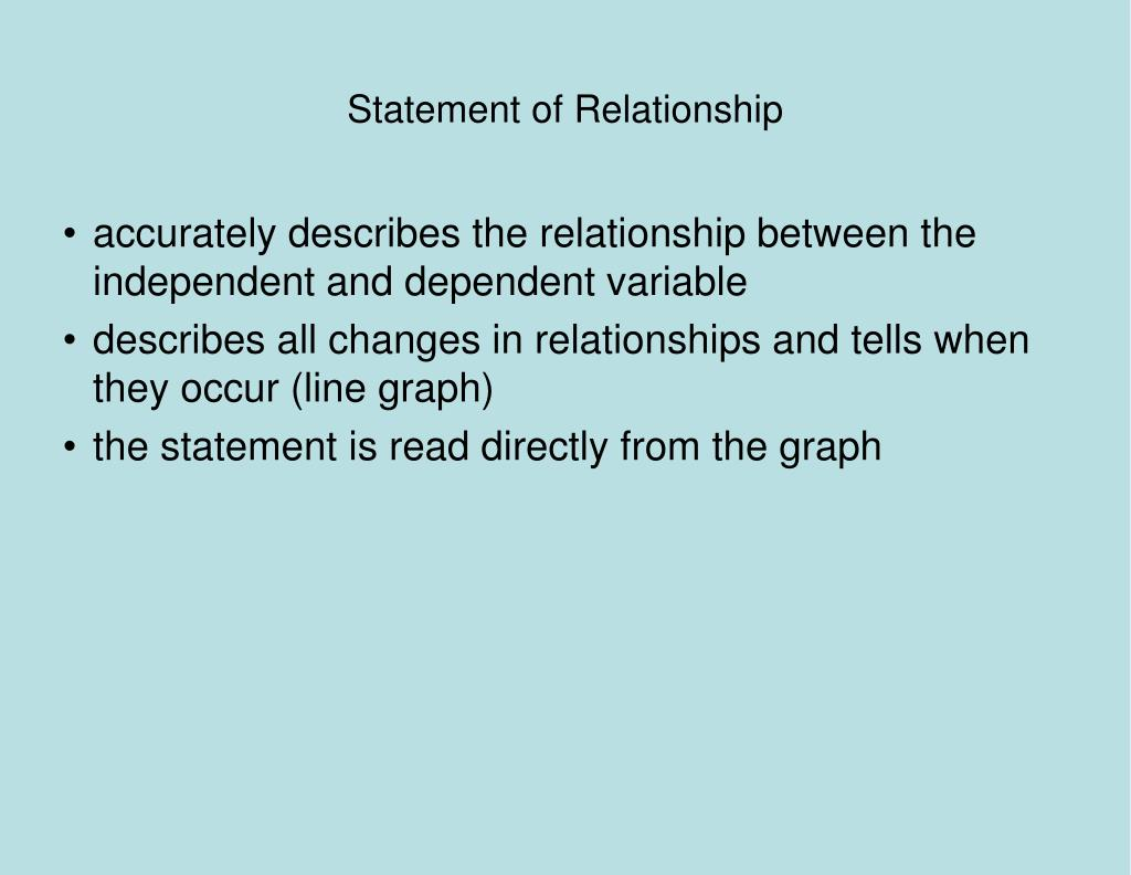 Statement of Relationship