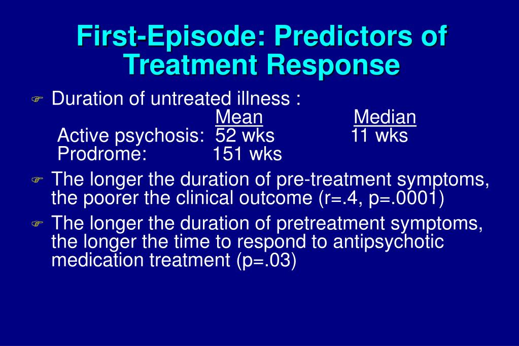 First-Episode: Predictors of